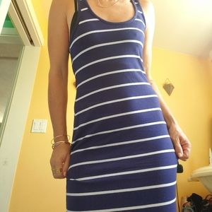 Kirra Maxi fitted striped dress